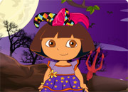 Imbrac-o pe Dora de Halloween
