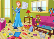 Princess Elsa Kitty Room Cleaning